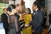 Royalty meets royalty: Prince Harry, Duchess Meghan, Beyonce and Jay-Z meet at 'The Lion King'